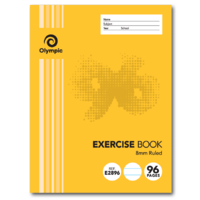 Olympic Exercise Book 225x175mm 8mm Ruled 96 Page