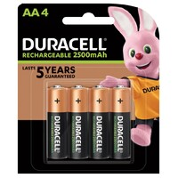 Duracell Rechargeable Battery AA Pack 4
