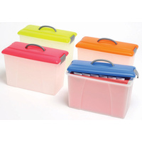 Crystalfile Carry Case 18L Lime Lid/Clear Base
