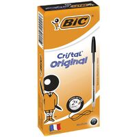 Bic Cristal Original Ballpoint Pen Medium Black Box 12