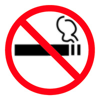 Apli Self Adhesive No Smoking Sign 114 x 114mm