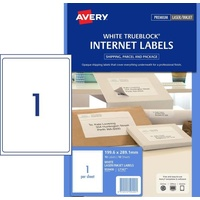Avery L7167 Trueblock Shipping Labels 199.6x289.1mm 1/Sheet White Pack 10