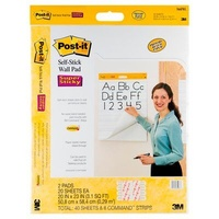 Post-It 566RPL Super Sticky Self-Stick Wall Pad 508x584mm