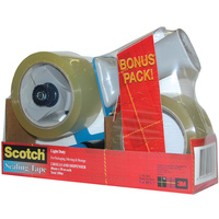Scotch BPS-1 Sealing Tape 48mmx50m 2 Rolls And Dispenser