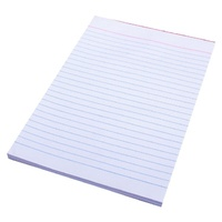Quill Notepad A5 Bank Ruled White 90 Leaf Pack 20