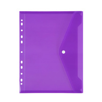 Marbig Binder Pocket A4 With Button Closure Purple