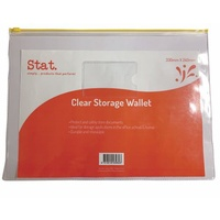 Stat Storage Wallet Clear 330mm x 240mm Large