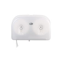 Livi Double Junior Jumbo Toilet Roll Dispenser White