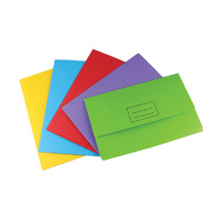 Stat Document Wallet Foolscap Manilla Board Assorted Pack 25