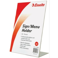 Esselte Menu/Sign Holder A4 Slanted Portrait