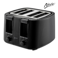 Nero 4 Slice Toaster Black