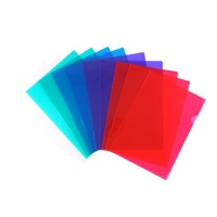 Beautone Letter Files Transparent PP A4 Assorted Colours Pack 10