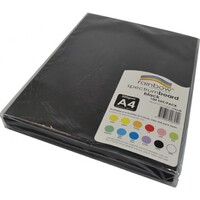 Rainbow Spectrum Board A4 200gsm Black Pack 100