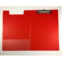 Clipfolder A4 PVC With Pocket Red