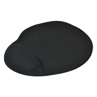 Italplast Extra Large Mouse Pad With Gel Wrist Support Black