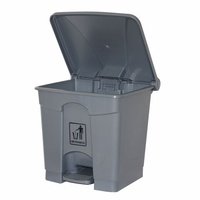 Cleanlink Rubbish Bin 68 Litre With Pedal Lid Grey