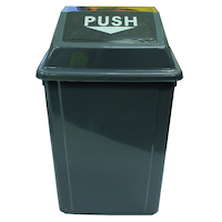 Cleanlink Rubbish Bin With Bullet Lid 60 Litre Grey