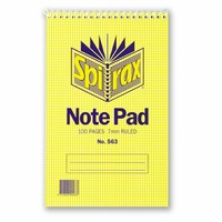 Spirax 563 Notepad Shorthand Top Opening 100 Page Pack 20