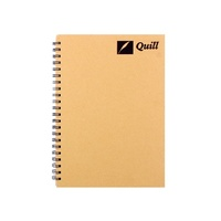 Quill Notebook A4 Hardcover Natural Range Spiral 160 Pages