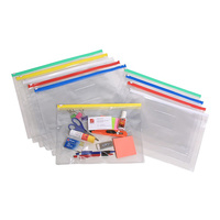 Marbig Clear Case B4 395x290mm With Zip Assorted Each