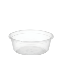 Round Plastic Container Clear 330ml Carton 500
