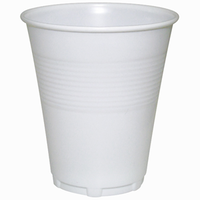 Plastic Drinking Cups 200ml / 7oz White Sleeve 50