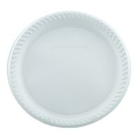 Plastic Dinner Plates White Pack 50