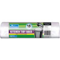 Kitchen Tidy Bags 18 Litre White Roll 50