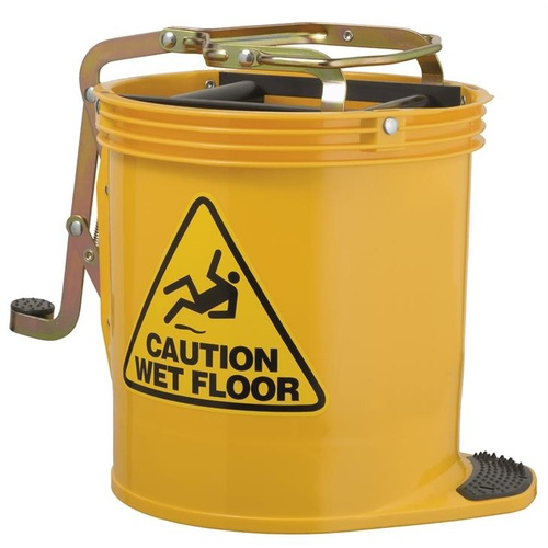 Oates Contractor Wringer Mop Bucket 15L Yellow