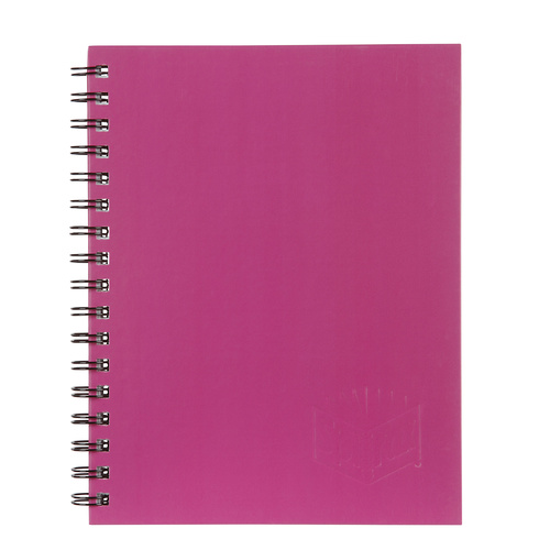 Spirax 512 Notebook A4 Hard Cover 200 Page Pink